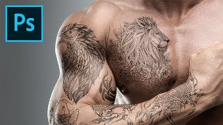 Add Amazing Tattoos Under 3 Minutes with Photoshop!