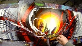 Learn How to Paint Abstract Painting with Acrylics video - Anthylis by John Beckley
