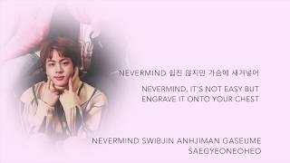 BTS Jin - 'Never Mind' [Han|Rom|Eng lyrics]