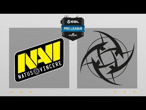 CS:GO - Na'Vi vs. NiP [Overpass] Map 1 - ESL Pro League Season 5 - EU Matchday 17
