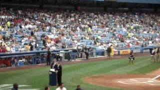 Old Timer's Day 2008 Yankee Stadium - Homer Bush