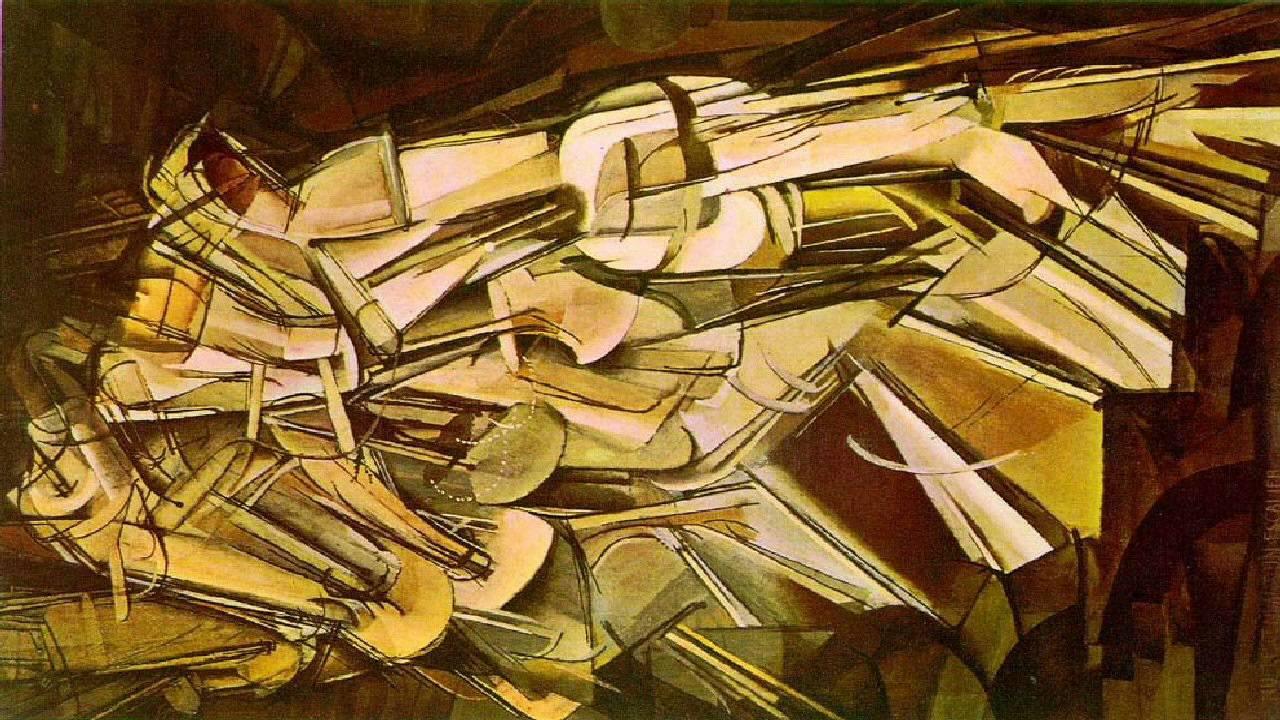 Remarkable, Duchamp nude descending stairs