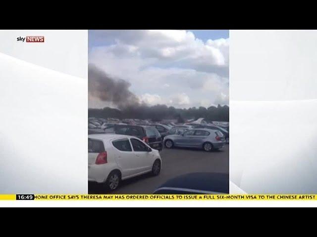 Plane Crashes Into Hampshire Car Auction