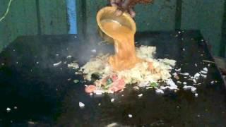 South indian popular street food muniyandi vilas kothu parota