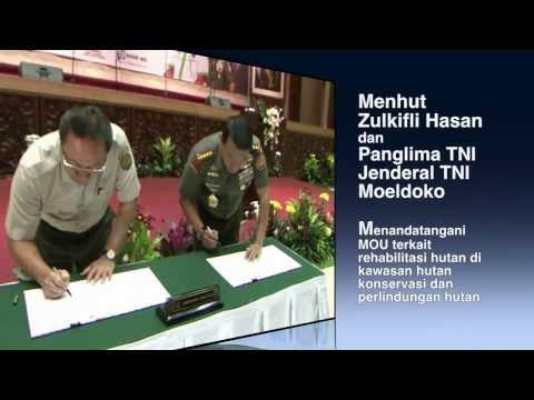 Kemenhut, TNI dan PT. Garuda Indonesia Tanda tangani MoU Rehabilitasi Hutan  07/02/2014