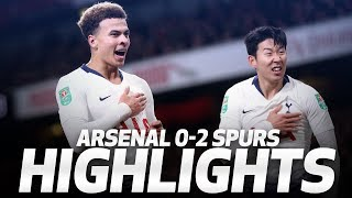 HIGHLIGHTS | ARSENAL 0-2 SPURS Carabao Cup quarter-final