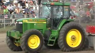John Deere 7710 pulling St-Damase 2011 part 2 18000lbs CHOQUETTE