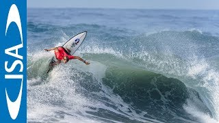 Epic typhoon swell on opening day of 2018 UR ISA World Surfing Games