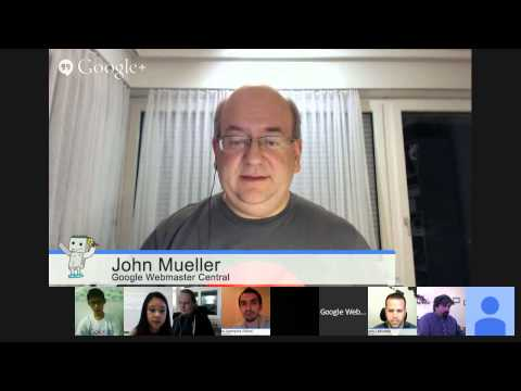 English Google News & Webmaster Central Hangout: How to manage your site in Google News