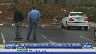 Man accidentally shoots, kills himself while getting out of car in Raleigh