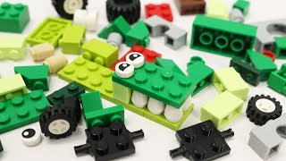 Building Blocks Toys for Children Learn Animal Vehicle Lego Green Creative Educational Toy