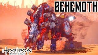 Horizon Zero Dawn - BEHEMOTH Boss Fight - EPIC SCENES! - The Terror of the Sun Quest - No Commentary
