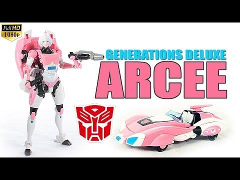 Hasbro Generations IDW Arcee deluxe class Tranasformers robot figure review