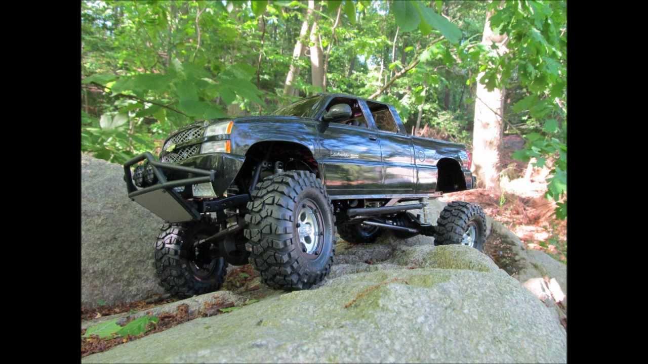 Custom Chevy Silverado Parts Axial SCX10 silverado - YouTube