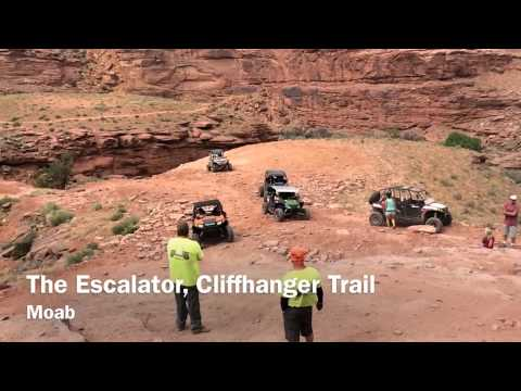 Rally on the Rocks 2014. RZR almost tips on the escalator!!