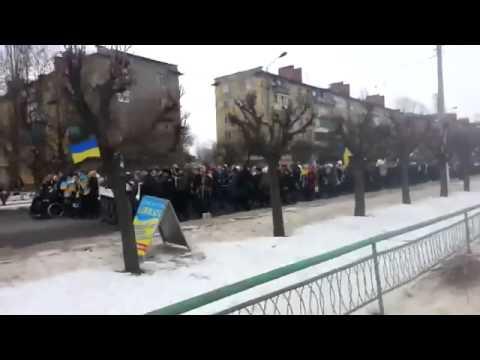 Ukraine War   People in free Kramatorsk protest the Russian terror in Volnovakha   for Ukraine