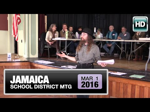 2016 Jamaica Town Meeting 3/1/16
