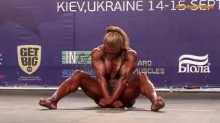 2013 World IFBB - FAITH Deniz (SWE) Women's BODYBUILDING - Round 3