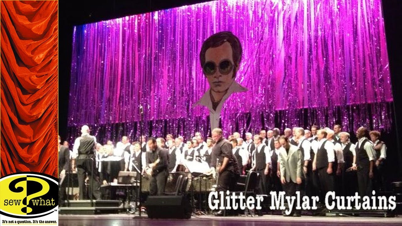 Glitter Curtain, Mylar Curtains - YouTube