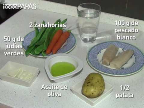 Puré de merluza y verduras para el bebé - Recetas fáciles para bebés y niños