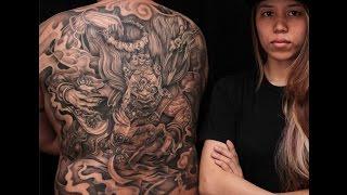 Tran Le Tattoo  X M K N L Ng Full Back  Makahala