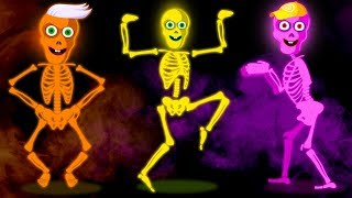 Five Crazy Skeletons Nursery Rhyme and Songs for Children | Hoopla Halloween