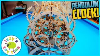 WOODEN PENDULUM CLOCK! Robotime 3D Puzzle!