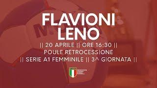 Serie A1F [3^ Poule Retrocessione]: Flavioni - Leno 24-37