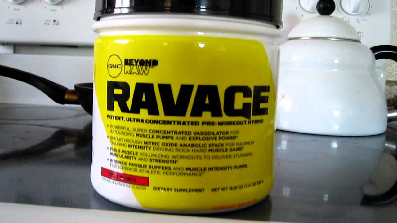 GNC Beyond Raw Ravage - PreWorkout Review - YouTube