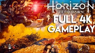 Horizon Zero Dawn 4K Gameplay - GORGEOUS BOSS BATTLES!! (PS4 Pro 4K)