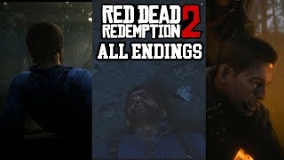 All Four Endings Red Dead Redemption 2 ( Two Bad And Two) (Arthur Morgan Death)