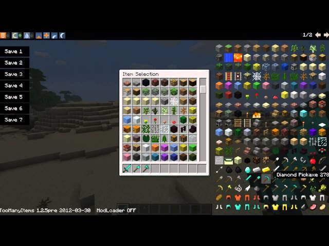 Minecraft-Too Many Items 1.2.5 + DOWNLOAD pt/br subtitles in English