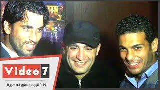 أحمد السقا وحمص وفتح الله وهانى سعيد فى حفل افتتاح مطعم إسلام الشاطر