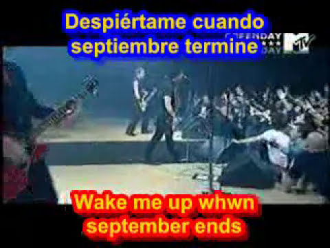 Wake Me Up When September Ends ( SUBTITULADO ESPAÑOL INGLES )