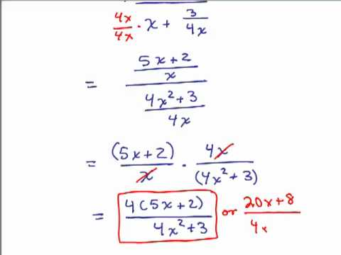 How to Simplify Algebraic Fractions