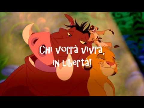 Il Re Leone - Hakuna Matata *LYRICS*