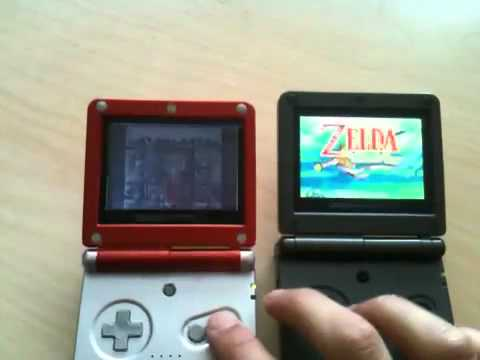 GBA: Backlit SP model comparison