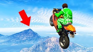 LONGEST BIKE JUMP ON GTA EVER! (Gta 5 Funny Moments)