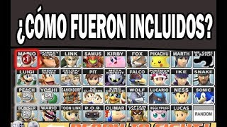 ¿Cómo fueron incluidos los personajes del Super Smash Bros Brawl?