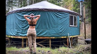 ALONE & LIVING OFF GRID | A Day In My YURT LIFE - Ep. 76