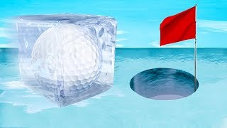DANGEROUS FROZEN HOLE IN ONE! (Golf It)