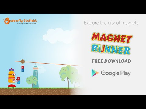 Magnet Runner by Butterfly Fields | Education game for children on magnetism