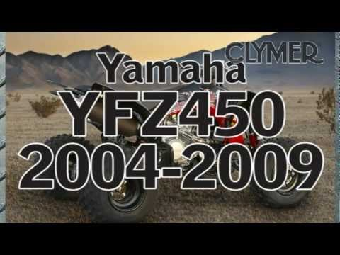 Clymer Manuals Yamaha YFZ450 ATV 4 Four Wheeler Maintenance Repair Manual Shop Service Manual Video