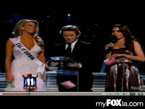 Miss USA California Responds To Gay Marriage Question From Perez Hilton