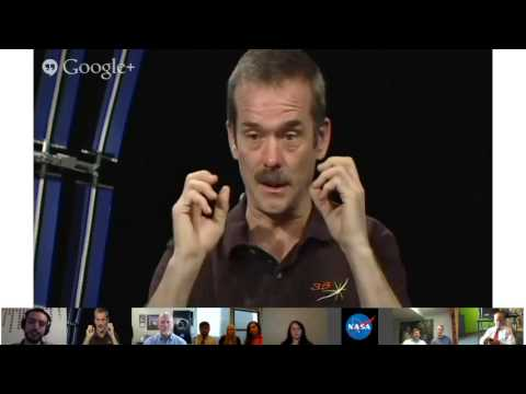 Recently Returned Expedition 35 crew participates in Google+ Hangout