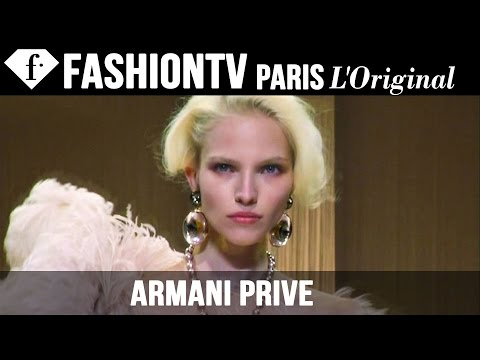 Armani Prive Couture Fall winter 2013-14 Show | Paris Couture Fashion Week | Fashiontv video