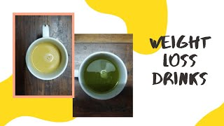 Two types of Weight Loss drinks || Recipe of Bulletproof Coffee and Green Matcha Tea || Keto Diet