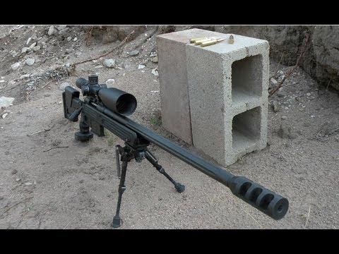 338 Lapua VS Cinder Blocks at 1000 Yards!