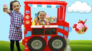 ÖYKÜNÜN DEV DONDURMA ARABASI Little Tikes Food Kitchen Ice Cream Cart , Play With Me