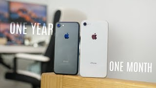 iPhone 8 After 1 Month; iPhone 7 After 1 Year